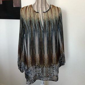 Sheer Long-Sleeve Tunic